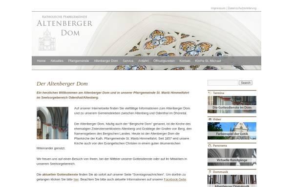 Vorschau von www.altenberger-dom.de, Katholische Pfarrgemeinde Altenberg