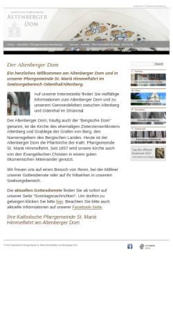 Vorschau der mobilen Webseite www.altenberger-dom.de, Katholische Pfarrgemeinde Altenberg