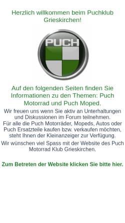 Vorschau der mobilen Webseite www.puchklub.at, Puchklub