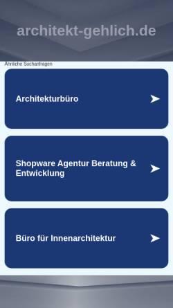 Vorschau der mobilen Webseite www.architekt-gehlich.de, Gehlich, Hans Jürgen