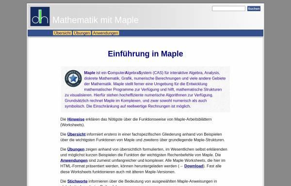 Vorschau von henked.de, Einführung in Maple