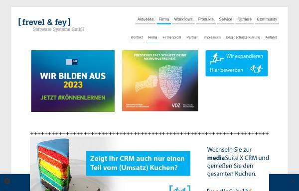 Vorschau von www.frevelundfey.de, Frevel & fey Software Systeme GmbH