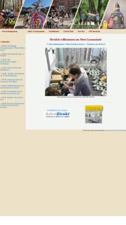 Vorschau der mobilen Webseite www.altesgym.flensburg.de, Altes Gymnasium