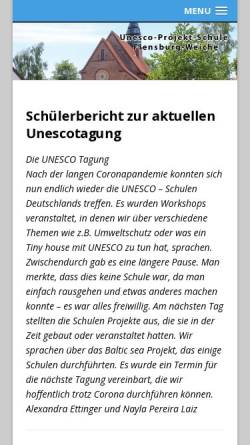 Vorschau der mobilen Webseite unesco.flensburg.de, Unesco-Projektschule Flensburg-Weiche