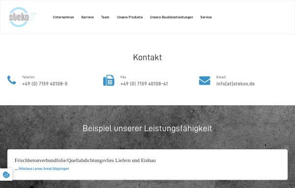 Vorschau von www.stekox.com, StekoX GmbH