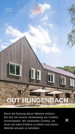 Vorschau der mobilen Webseite www.guthungenbach.de, Gut Hungenbach