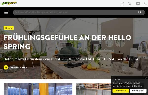 Vorschau von www.creabeton-materiaux.ch, Creabeton Materiaux AG