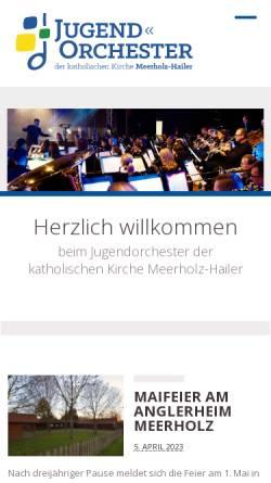 Vorschau der mobilen Webseite www.jo-meerholz-hailer.de, Jugendorchester der katholischen Kirche Meerholz-Hailer
