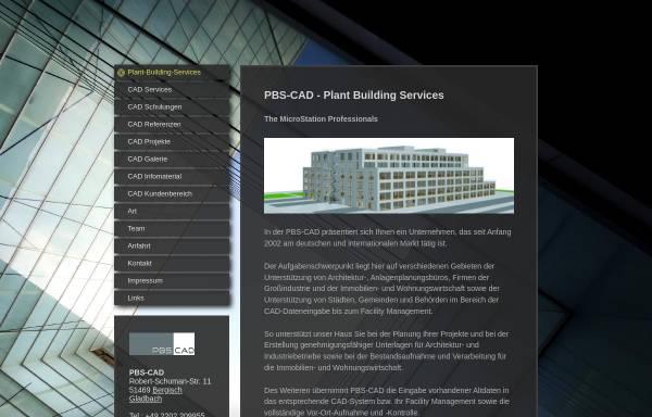 Vorschau von www.plant-building-services.de, PBS-CAD GbR, Matthias Schulz, Janine Schulz-Haselhoff