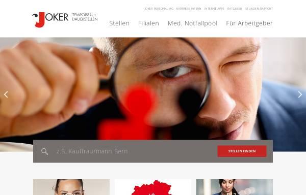 Vorschau von www.jokerpersonal.ch, Joker Personal AG