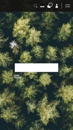 Vorschau der mobilen Webseite purnatur.com, Pur Natur Holzprodukte e.K.