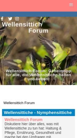 Vorschau der mobilen Webseite www.wellensittich-forum.de, Wellensittichforum