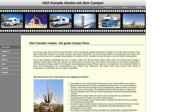Vorschau von www.camper-usa-kanada.com, Highway Camper