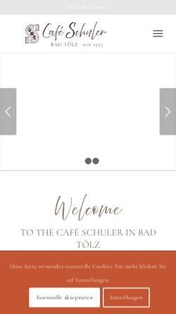 Vorschau der mobilen Webseite www.konditorei-cafe-schuler.de, Konditorei Café Schuler GmbH