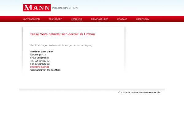 Vorschau von www.emil-mann.de, Spedition Mann GmbH