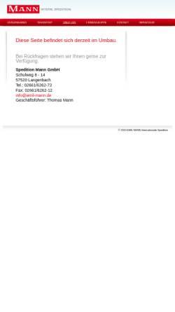 Vorschau der mobilen Webseite www.emil-mann.de, Spedition Mann GmbH