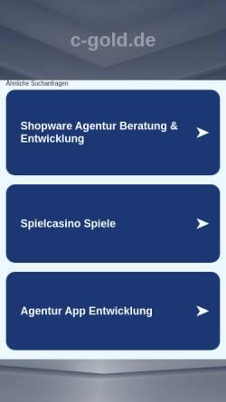 Vorschau der mobilen Webseite c-gold.de, C-Gold - Online Gold
