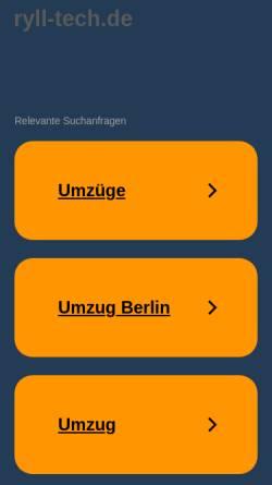 Vorschau der mobilen Webseite www.ryll-tech.de, Ryll-Tech GmbH
