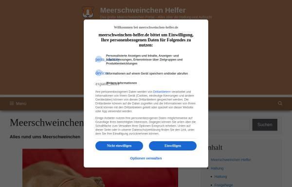 Vorschau von www.meerschweinchen-helfer.de, Meerschweinchen Helfer