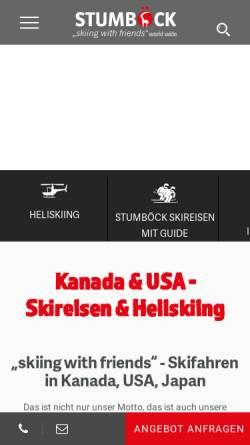 Vorschau der mobilen Webseite www.stumboeck.com, Stumböck Club