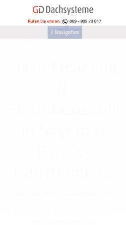 Vorschau der mobilen Webseite www.gddachsysteme.de, Dualsphere Innovative Dachsysteme GmbH