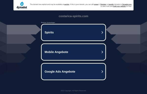 Vorschau von www.costarica-spirits.com, Costa Rica Spirits