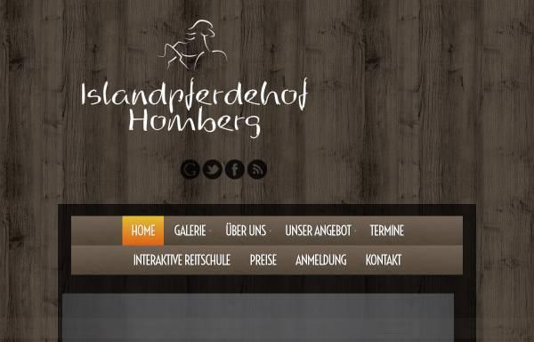 Vorschau von www.islandpferdehof-homberg.de, Islandpferdehof Homberg
