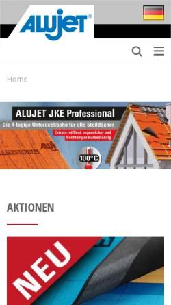 Vorschau der mobilen Webseite www.alujet-universal.de, Alujet-Universal GmbH