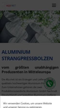 Vorschau der mobilen Webseite www.alu-met.com, Alu-met Handelsges. m.b.H.