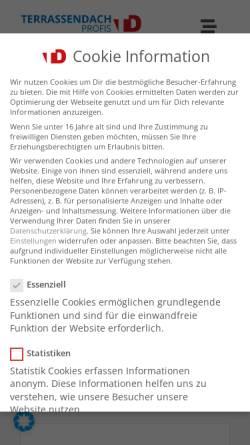 Vorschau der mobilen Webseite terrassendach-profis.de, Terrassendach Profis, Tausche & Schüpferling GbR