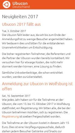 Vorschau der mobilen Webseite www.ubucon.de, Ubucon