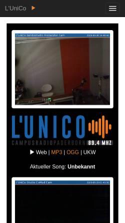Vorschau der mobilen Webseite www.l-unico.de, L'Unico