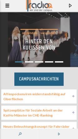 Vorschau der mobilen Webseite www.radioq.de, Radio Q