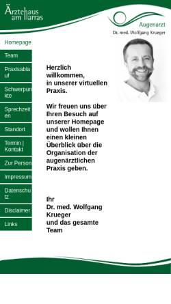 Vorschau der mobilen Webseite www.augen-aha.de, Dr. med. Wolfgang Krueger