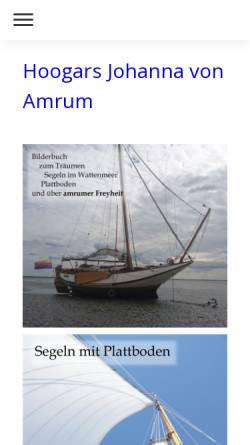 Vorschau der mobilen Webseite www.johannavonamrum.de, Johanna von Amrum