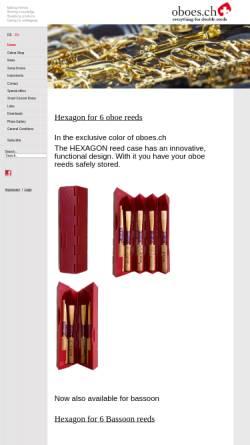 Vorschau der mobilen Webseite www.oboes.ch, Oboes.ch, Renato Bizzotto