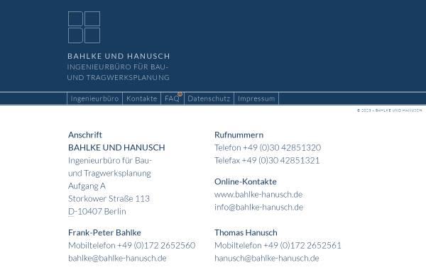 Vorschau von www.bahlke-hanusch.de, Bahlke und Hanusch