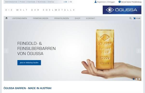 ögussa österreichische Gold Und Silberscheideanstalt Gesmbh