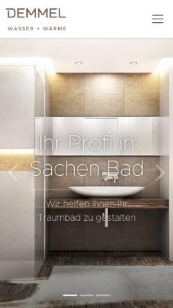 Vorschau der mobilen Webseite www.demmel-gmbh.de, Demmel GmbH