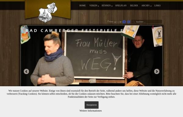 Vorschau von www.bad-camberger-festspiele.de, Bad Camberger Festspiele e. V.