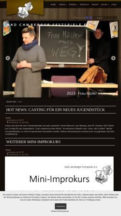 Vorschau der mobilen Webseite www.bad-camberger-festspiele.de, Bad Camberger Festspiele e. V.