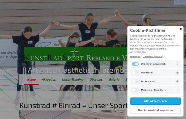 Vorschau von www.krs-varnhalt.de, Kunstradsport Rebland e.V. Varnhalt