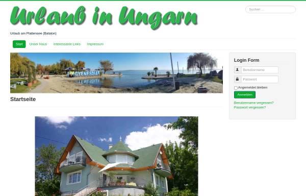 Vorschau von www.ungarnurlaub.de, Ferienhaus Margrit