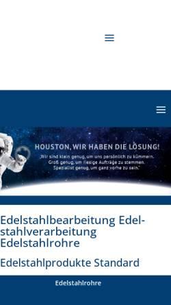 Vorschau der mobilen Webseite glmetall.de, Edelstahl Lämmermeier oHG