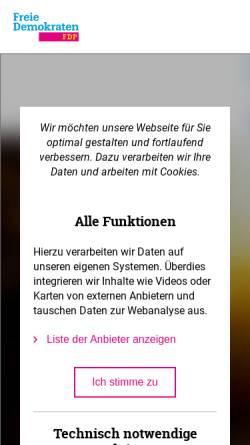 Vorschau der mobilen Webseite www.fdp-muensterland.de, FDP Bezirksverband Münsterland