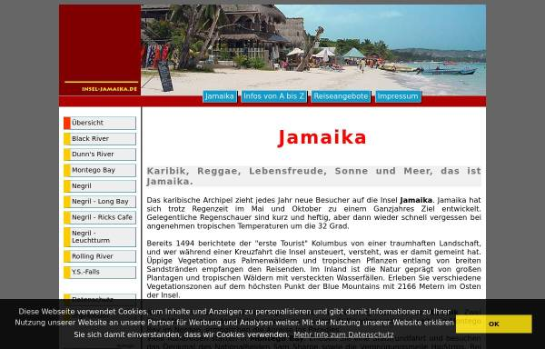 Vorschau von www.insel-jamaika.de, Insel Jamaika