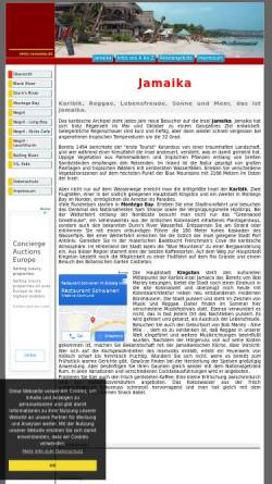 Vorschau der mobilen Webseite www.insel-jamaika.de, Insel Jamaika