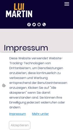 Vorschau der mobilen Webseite luimartin.at, Luimartin