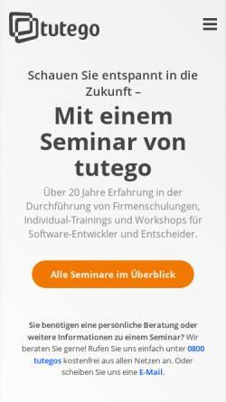 Vorschau der mobilen Webseite www.tutego.de, Christian Ullenboom Tutego