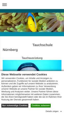 Vorschau der mobilen Webseite www.dive-unlimited.info, Dive Unlimited, Tauchschule Karl Heinz Fichtner